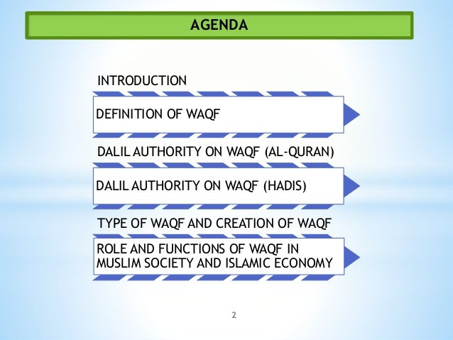 role of waqf The institutions of zakah and waqf are among several poverty alleviation through zakah and waqf this paper discusses the role of zakah and waqf.