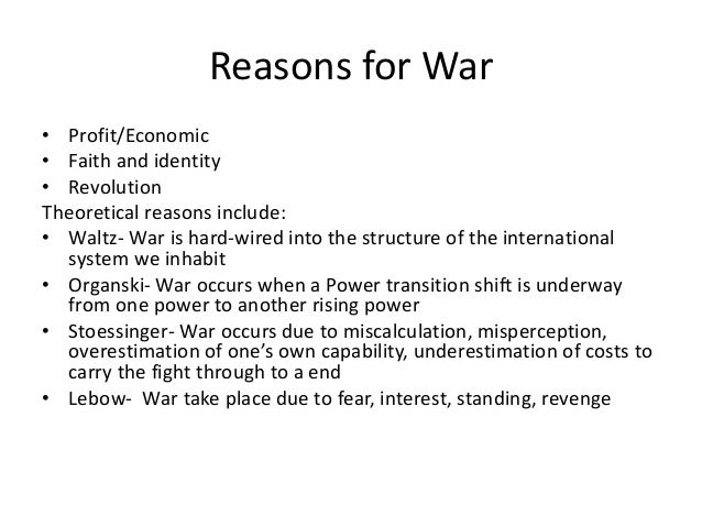 types of war At the beginning of the civil war, either side had made suitable plans for the imprisonment or care of prisoners the north believed that the war would be short and.
