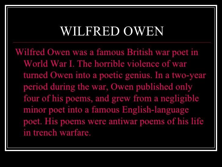 War Poetry Presentation