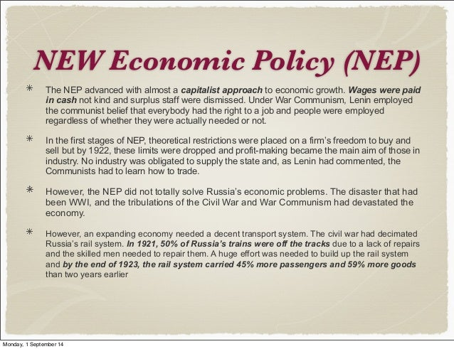 war communism and nep essay War communism or military communism it ended on march 21, 1921, with the beginning of the new economic policy, which lasted until 1928 policies war communism.