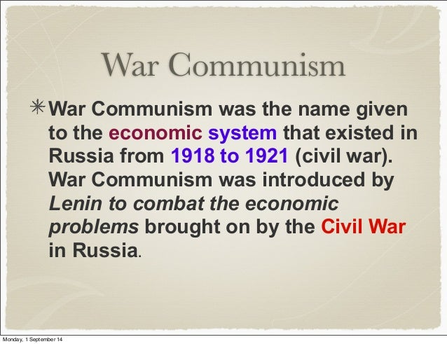 War communism and the nep