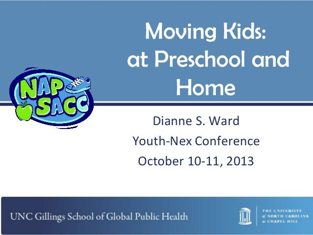 Moving Kids: at Preschool and Home Dianne S. Ward Youth-Nex Conference October 10-11, 2013