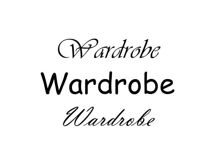 WardrobeWardrobeWardrobe<br />