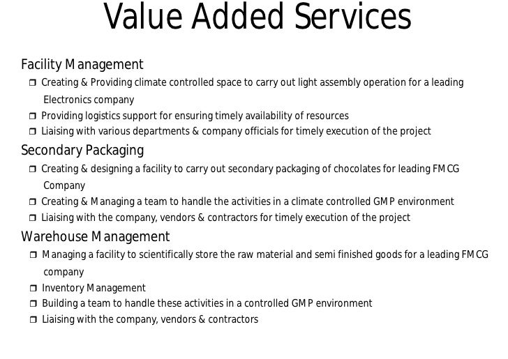 Fmcg Space Management : Warehouse company