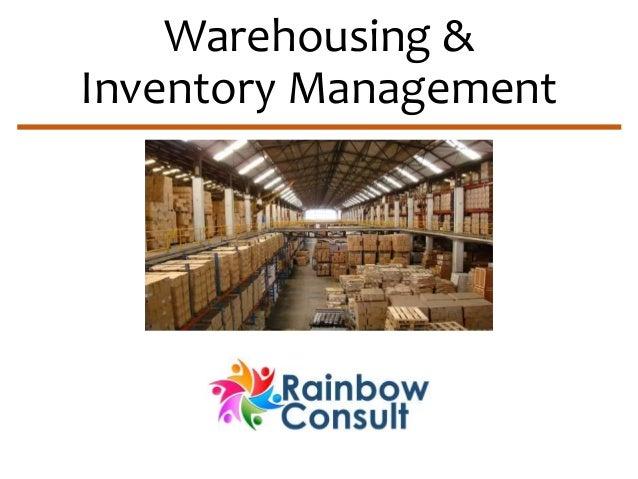 Warehousing &  Inventory Management