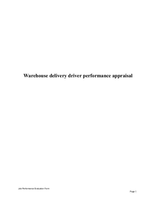 WarehouseDeliveryDriverPerformanceAppraisalJpgCb
