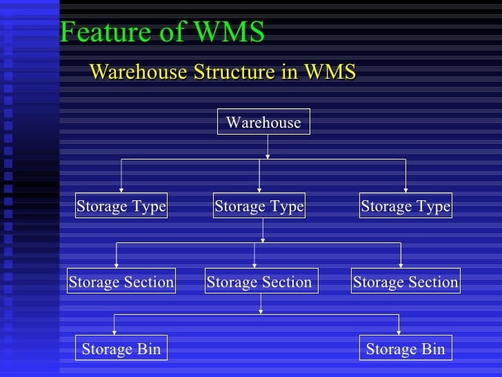 Warehouse Structure in WMS Warehouse Storage Type Storage Type Storage Type Storage Section Storage Bin Storage Section  S...