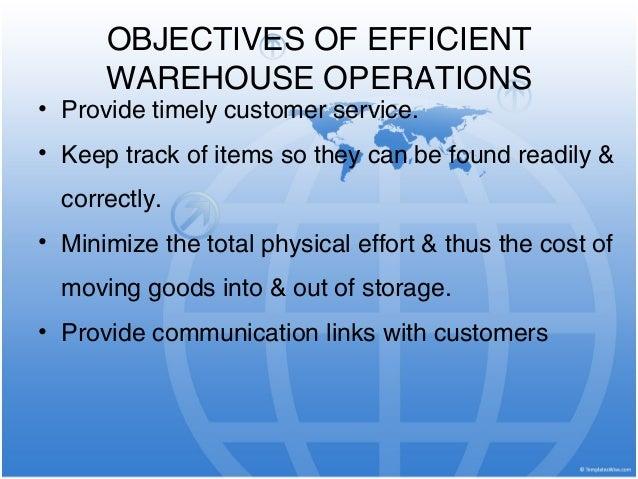 warehouse objectives