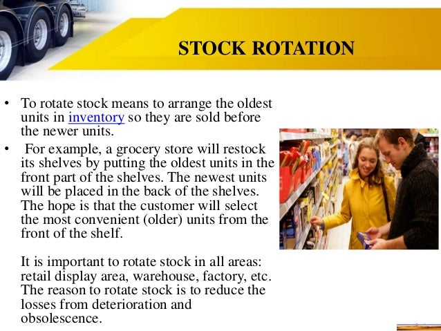 Why is stock rotation important?