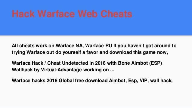 Warface hacks, aimbots, wallhacks and other cheats.