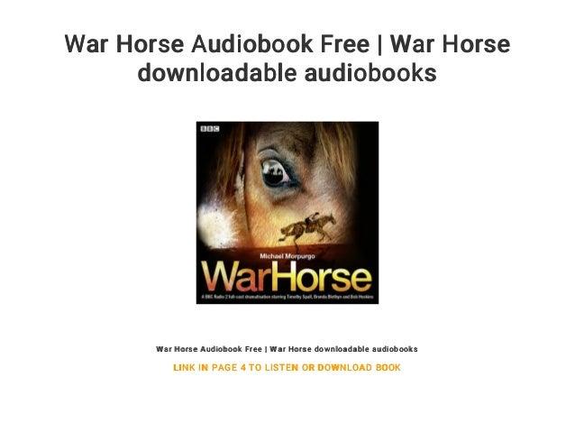 War horse audiobook free download | war horse.