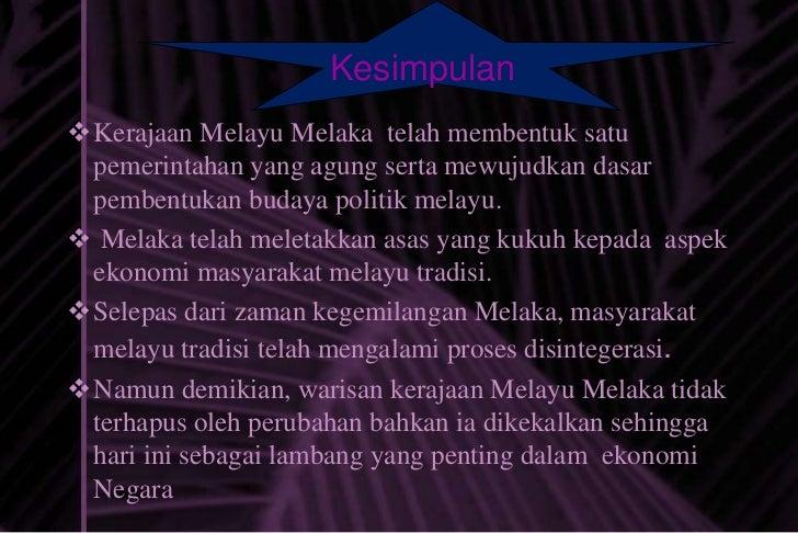 Warisan Kesultanan Melayu Melaka Dari Segi Ekonomi