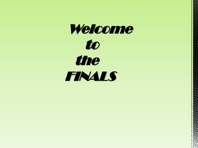 Welcome   to theFINALS