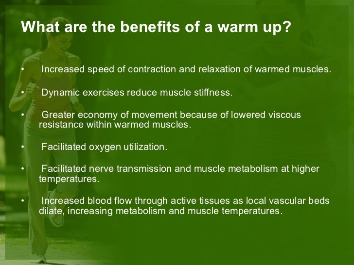 Warm up & cool-down