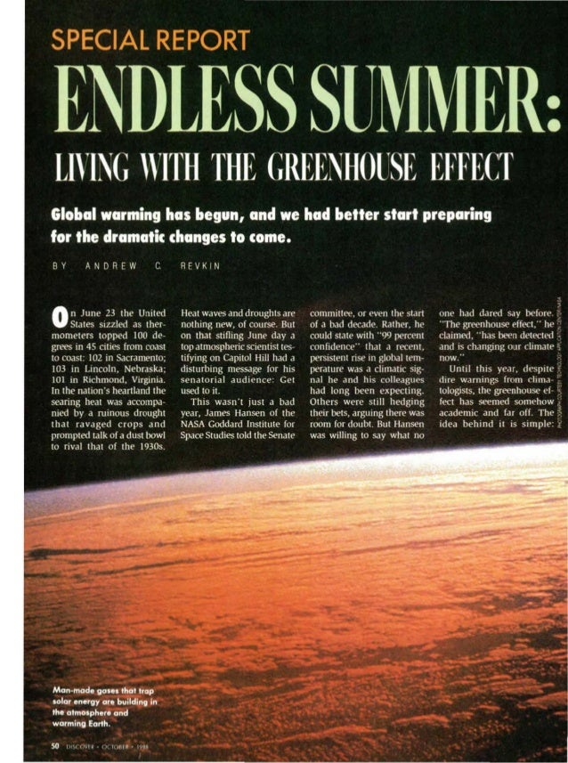 When Global Warming Became News: 1988 Slide 2