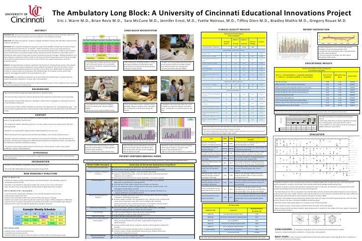 The Ambulatory Long Block: A University of Cincinnati Educational Innovations Project<br />Eric J. Warm M.D., Brian Revis ...