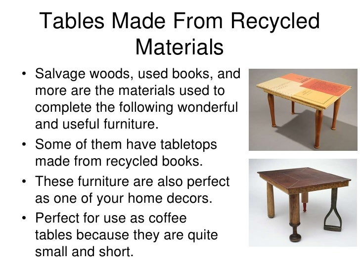 table recycled materials. Tables Made From Recycled Materials\u2022 Table Materials