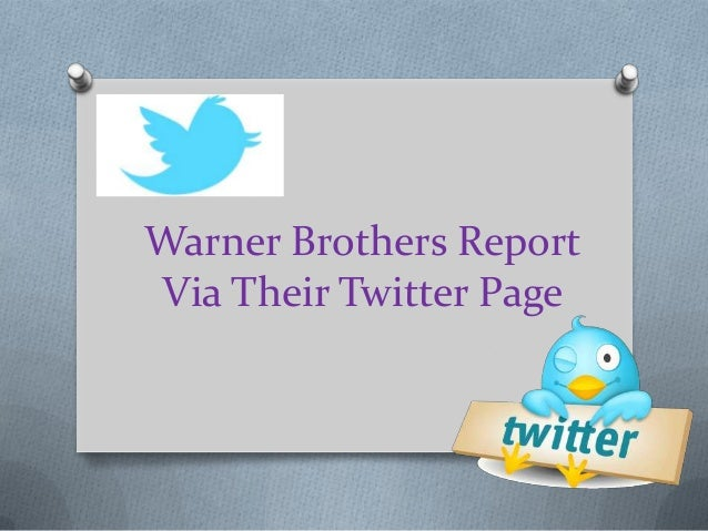 Warner Brothers ReportVia Their Twitter Page