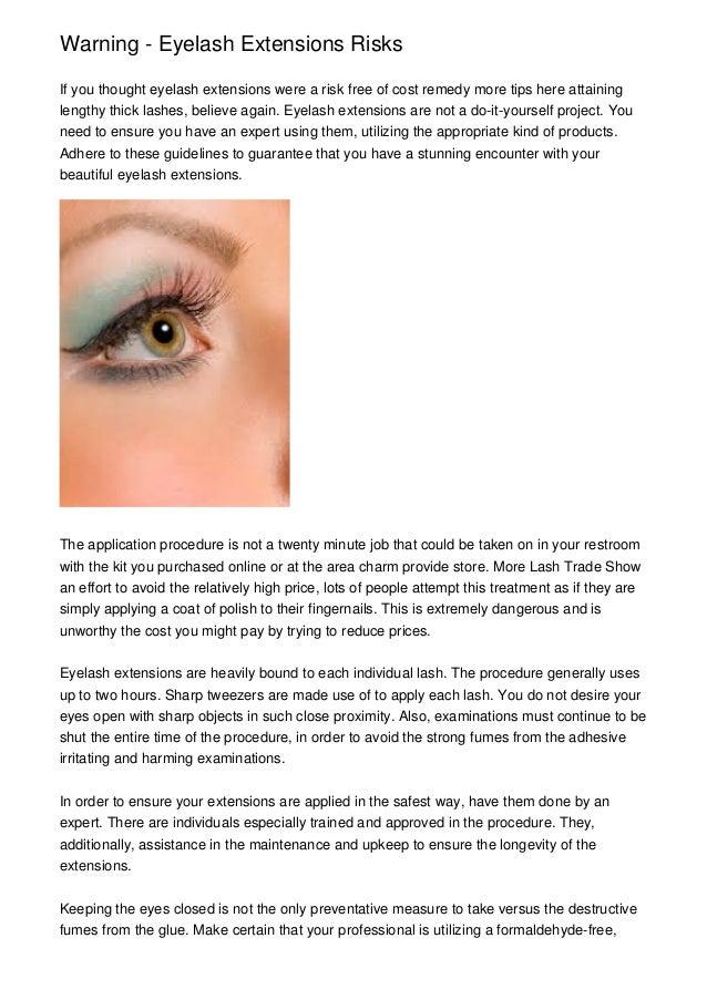 Caution Eyelash Extensions Risks