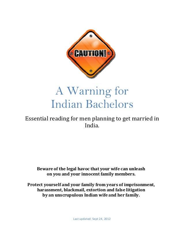 A Warning for                   Indian Bachelors        Essentialreadingformen...