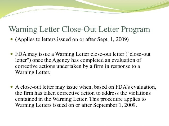 ... 19. HOW TO BROWSE WARNING LETTERS ...