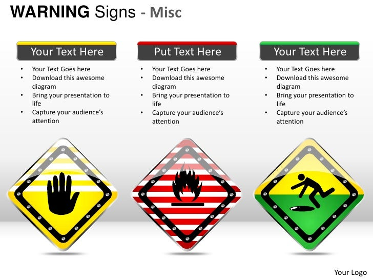 Warning Sign Misc Powerpoint Presentation Templates