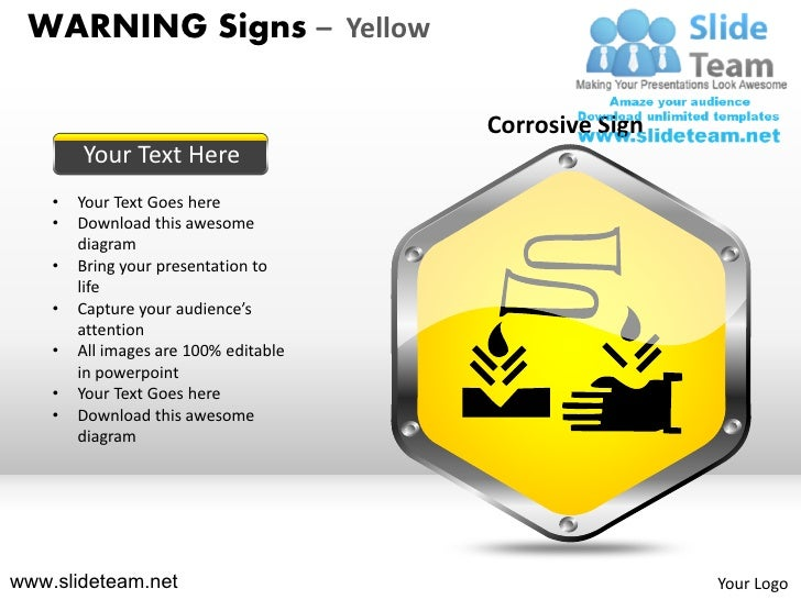 Warning Sign Yellow Powerpoint Ppt Slides