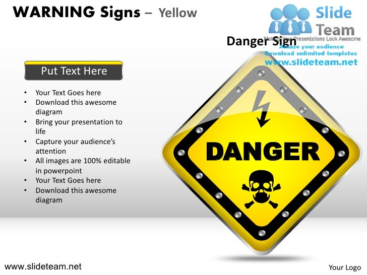 Warning Sign Yellow Powerpoint Ppt Templates