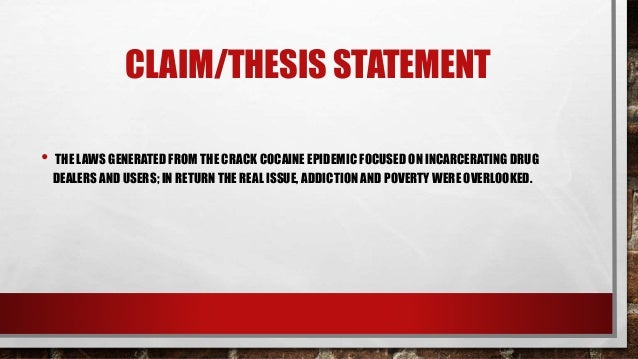 thesis statements for drug addiction
