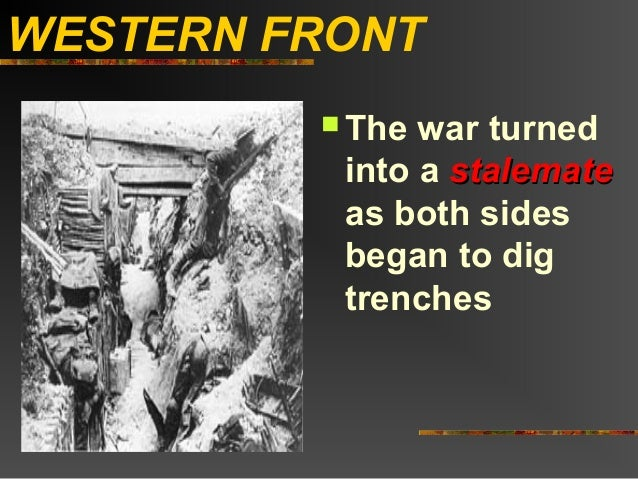 Why the Western Front Stalemated in WWI