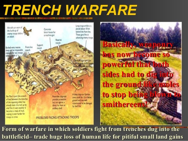TRENCH WARFARE                                       Basically, weaponry                                       has now bec...