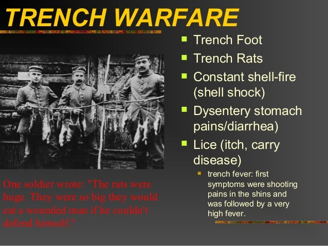 TRENCH WARFARE                                       Trench Foot                                       Trench Rats      ...