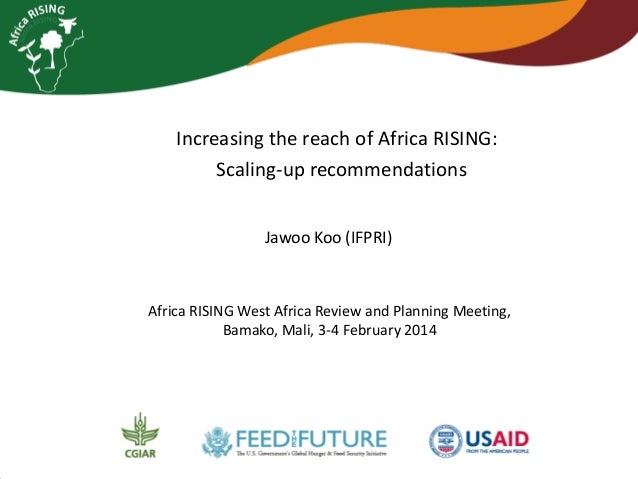 Increasing the reach of Africa RISING: Scaling-up recommendations Jawoo Koo (IFPRI)  Africa RISING West Africa Review and ...