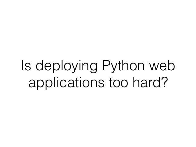 """warpdrive"", making Python web application deployment"