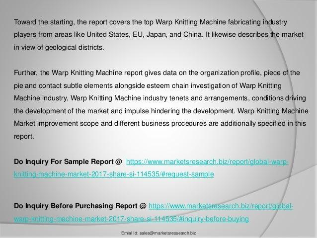 warp knitting machine market 2017 share size forecast 2022. Black Bedroom Furniture Sets. Home Design Ideas