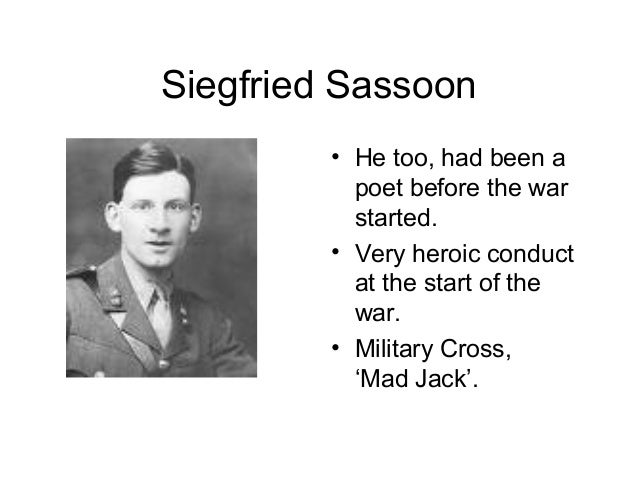 does it matter by siegfried sassoon essay