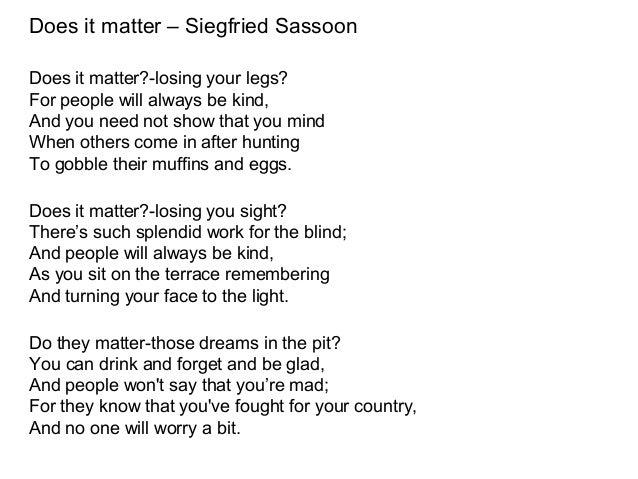 Siegfried Sassoon: Poems Background