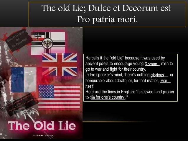 english essay on dulce et decorum est Gcse and a-level poetry:everything you need to know about dulce et decorum est by wilfred owen - duration: 5:55 the english teacher 2,451 views.