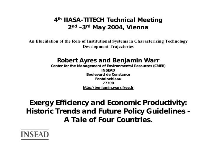 4th IIASA-TITECH Technical Meeting                   2nd –3rd May 2004, Vienna  An Elucidation of the Role of Institutiona...