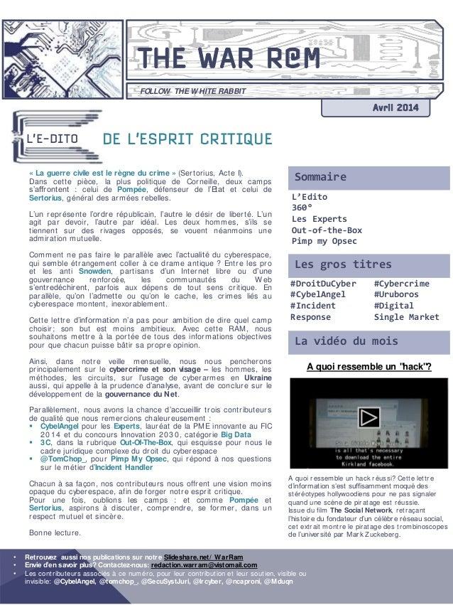 """A quoi ressemble un """"hack""""? A quoi ressemble un hack réussi? Cette lettre d'information s'est suffisamment moqué des stéré..."""