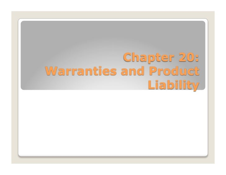 Warranty- contractual promise by the seller regarding the quality, character, or suitability of                goods he ha...