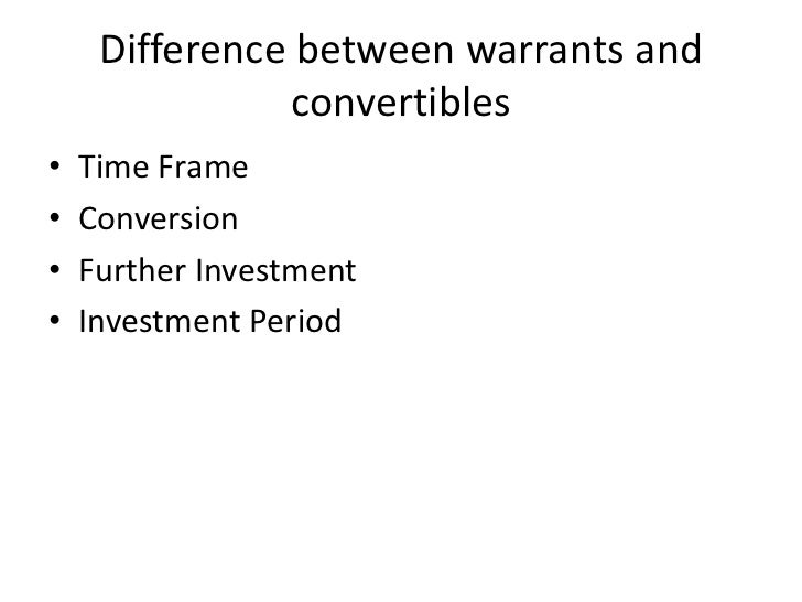 Difference between employee stock options and warrants