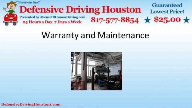 Warranty and Maintenance