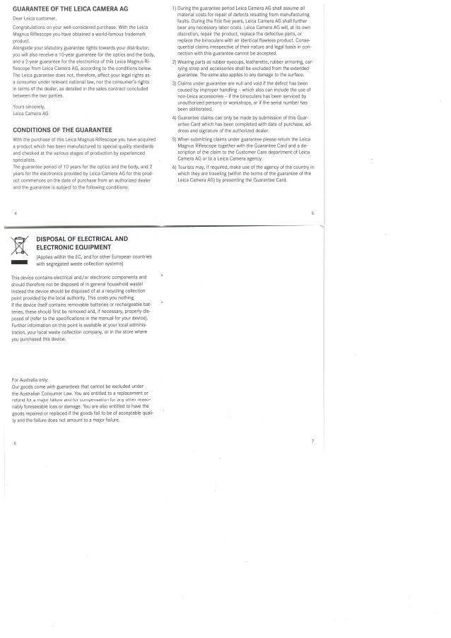 Warranty | Leica Magnus Riflescopes | Optics Trade