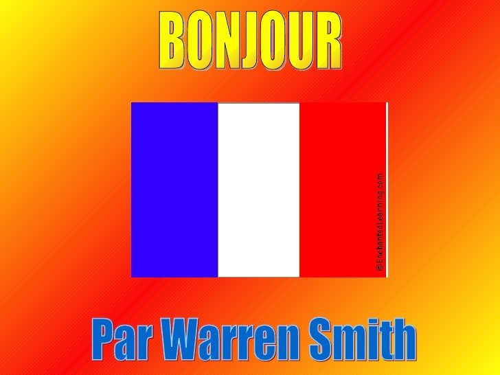 BONJOUR Par Warren Smith