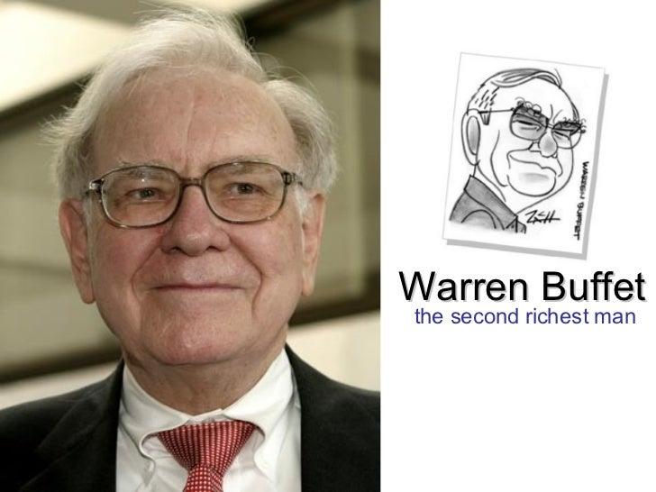 Warren Buffet the second richest man