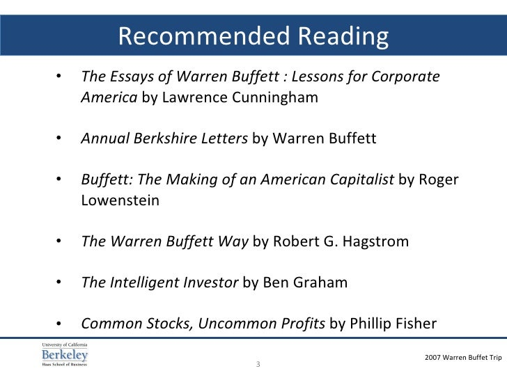 Essay by warren buffett