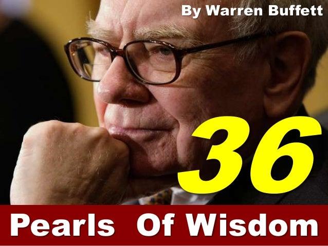 By Warren BuffettPearls Of Wisdom