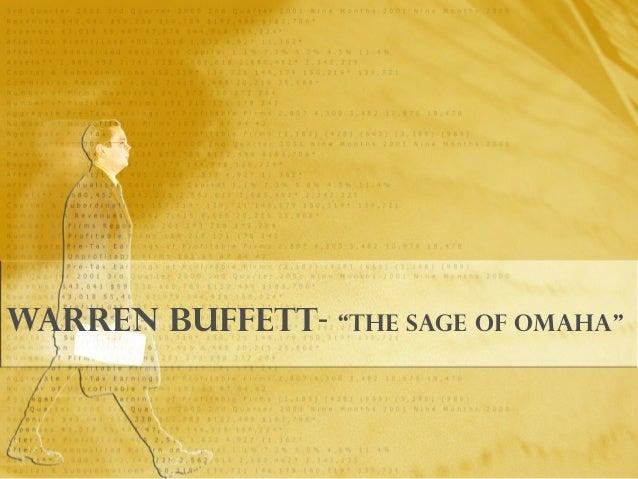 "Warren Buffett- ""the Sage of Omaha"""