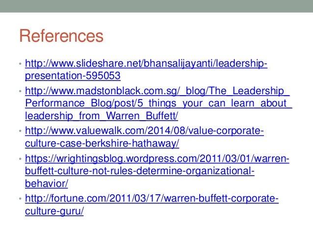 leadership style warren buffett